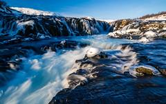 Brúarfoss | Suðurland (dawvon) Tags: iceland brúarfoss waterfall landscape winter season nature water longexposure nordic snow suðurland europe travel ice lýðveldiðísland republicoficeland southernregion ísland south