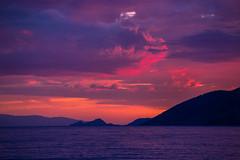 Sunset colours (Vagelis Pikoulas) Tags: sunset sea summer sky cloud sun seascape mountains june clouds canon landscape scenery europe view cloudy greece porto tamron vc 6d 70200mm 2016 germeno