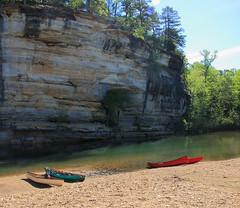 Downstream End of Briar Bluff on Buffalo River - Ozark Campground Near Pruittt, Arkansas (danjdavis) Tags: canoes arkansas briarbluffbluffbuffaloriverbuffalonationalriverozarkcampground