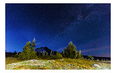 Mt. Hood at Night (PhotoDG) Tags: night oregon landscape star mthood mounthood shootingstar timberlinelodge sevenwondersoforegon
