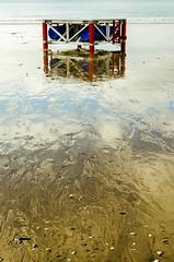 (*snow in september) Tags: colour reflection beach coast raft