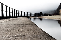Lonely figures. (CiaranFitzgeraldPhotography) Tags: reflection water canon wow concrete photography amazing cool earth stunning lonely sublime figures mycanon wodnerful