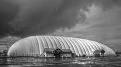 The Sportdome (Cindy's Here) Tags: bw rain weather clouds ansh scavenger7 thesportdome