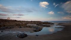 Porthcawl Watchower (KevJos) Tags: porthcawl seascape sea wales bridgend uk evening summer rocks watchtower sky moon reflections sand
