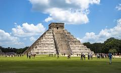 chichen itza main temple (JC-thks for helping this Amateur get 250k views) Tags: chichen itza temple maya mayan mexico cloud ruin ruins nikon tamron 24 70 mm traveling blue sky d610