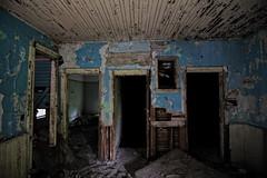 Three Doors (mr.gallivant) Tags: abandoned interior decay rural ontario house rotten abandonment doorway