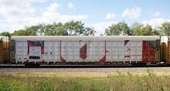 Woe (quiet-silence) Tags: graffiti graff freight fr8 train railroad railcar art woer woe rtd autorack wholecar cn canadiannational cna712963