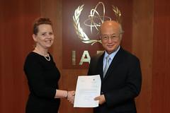Grta Gunnarsdttir (01410755) (IAEA Imagebank) Tags: diplomacy protocol credentials grtagunnarsdttir iceland