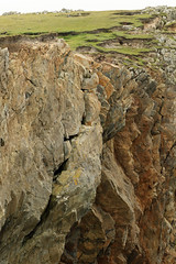 Top of the crumbling sea cliffs at the Butt of Lewis (David Russell UK) Tags: cliff rock face rockface crumbling crack landscape view vista scene scenery coastal shoreline isle island lewis scotland scottish outer hebrides butt outdoor