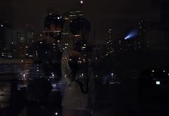 Due giovini nella citt delle luci (dea.vero) Tags: paris parigi citylights nanterre friends pijamas night bedtime torreeiffel toureiffel faro eiffeltower luci palazzialti amici trasparenza vetro riflesso ombre glass window