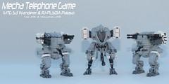 MTG S3 Wanderer vs RJ-PLS01A Palaso (Tagl) Tags: lego moc mech mecha telephonegame