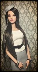 Mademoiselle Jolie Luchia (oasis2609) Tags: mademoiselle jolie luchia fashion royalty wclub integrity toys elise isha portrait fascinato hat gray suit reroot raven platinum