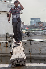 Captain off the ship (Hans Makkee) Tags: jakarta oldharbour java indonesia