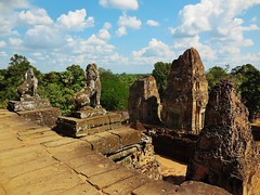 the view from the top (SM Tham) Tags: asia cambodia angkor prerup unescoworldheritagesite khmer stone temple architecture building towers pedestals lions stonecarvings view trees sky clouds outdoors