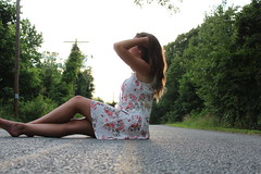 IMG_0992 (joshsagar) Tags: photoshoot pictures girl dress road smiles canon twirl golf course dab log water photography photos river arkansas central back roads sunset trees ar ark t5