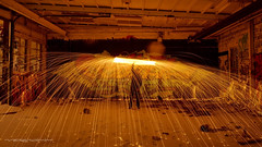 Little firepaint session (Vernamm2) Tags: longexposure canada montreal explore qubec urbex firepainting nikond90