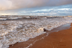 seaside (Andrey) Tags: sky storm water clouds landscape seaside sand aqua day gulf wind outdoor baltic lv lettonie