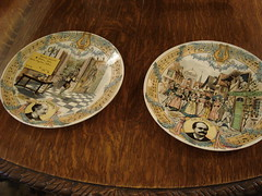 "PAIR FRENCH SOUVENIR PLATES • <a style=""font-size:0.8em;"" href=""http://www.flickr.com/photos/51721355@N02/15430280004/"" target=""_blank"">View on Flickr</a>"
