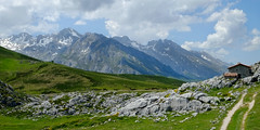 Room with a View - Picos de-Europa (normanwest4tography) Tags: sky cloud mountain snow rock meadow hut