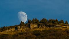 Moon light. (Rouvier Jean Pierre) Tags: moon lune motagne