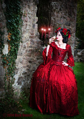 The chalice of lust (Azadeh Brown) Tags: fairytale princess goth medieval tudor queen vogue fantasy masquerade gothgirl azadeh 18thcentury darkart rosered gothchick newromantic gothbride gothwedding darkbeauty darkfairytale gothicqueen azacdesigns azadehbrown