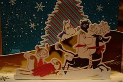 Moomin Christmas Card (jjldickinson) Tags: reindeer dof longbeach card moomin moomintroll popup wrigley sled sleigh greetingcard littlemy snorkmaiden nikond3300 promaster52mmdigitalhdprotectionfilter 101d3300 nikon1855mmf3556gvriiafsdxnikkor
