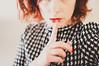Silencio (MMortAH) Tags: red white selfportrait black hair nikon 14 sigma silence selfie 30mm d90