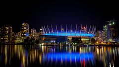 BC Place at Night (michaelnugent) Tags: canada night vancouver canon lens eos long exposure bc place mark columbia ii l 5d british 24 mm 105 ef