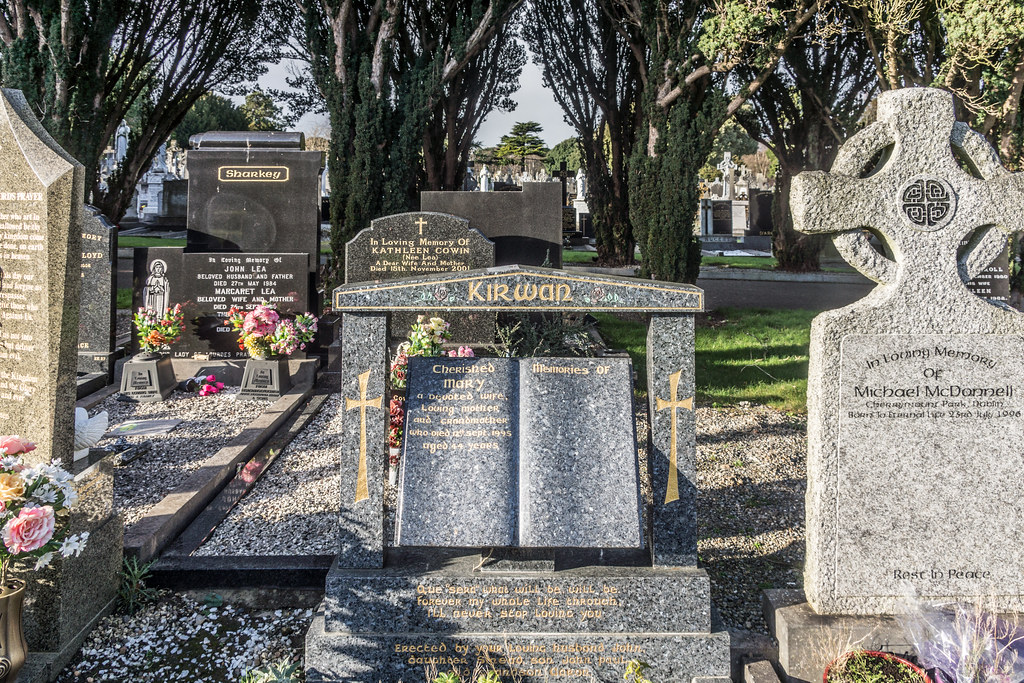 A MORE MODERN SECTION OF GLASNEVIN CEMETERY WHERE SOME ARE BURIED IN STYLE REF-101223
