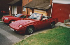 Reliant Scimitar SS1 (Mine) C204 LTO Roof Down Front (ukdaykev) Tags: red car classiccar convertible front british scimitar reliant ss1 reliantscimitarss1 reliantscimitar scimitarss1 c204lto