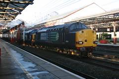 37059 - 37605 @ Crewe (uksean13) Tags: train canon cheshire rail railway loco crewe locomotive freight drs ef28135mmf3556isusm 37605 400d 37059