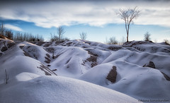 Cheltenham Badlands - Sunrise (digithief) Tags: winter snow ontario canada clouds sunrise landscape nikon badlands caledon d610 ontaro chelthanam