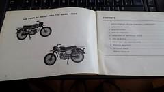 inside manual (Nicola_R) Tags: red 2 two classic bike bristol japanese stroke retro motorbike trail chrome 1967 motorcycle restored restoration suzuki jap twostroke enduro bearcat scrambler b105 trailbike b105p vjmc