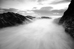 The flow in Black and White (Ahmad Fahmi (markthedg)) Tags: wild portrait people panorama lake reflection green ford nature car animal rock stone forest sunrise photography monkey landscapes scenery asia call long exposure slow seascapes photoshoot wildlife wave malaysia shutter hunter float bora creed