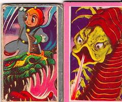 1960's Japanese Menko Cards 3 (Donald Deveau) Tags: cards cardgame japanesetoy menko japanesemonster