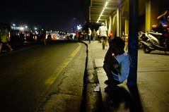On the Street of Manila (khemchen) Tags: street boy night kid child busstop manila ayala