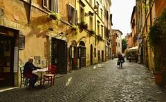 Roma - Trastevere ... (miriam ulivi) Tags: street houses light shadow people roma italia ombra case trastevere luce nikond3200 miriamulivi