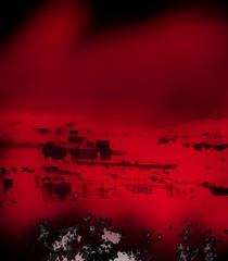 Infra (Night sigh) Tags: graffiti rojo san sebastian ciudad spray lejos portada duotono