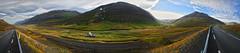 abandoned house near Akureyri 2 5p (Bilderschreiber) Tags: road street panorama house mountains green abandoned clouds island 1 iceland highway wolken haus berge valley grün nr tal verlassen akureyri strase bakkasel