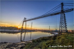 Newport Transporter Bridge (angeladj1) Tags: sunrise newport transporterbridge