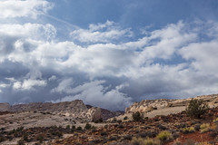 Dark Skies over the Reef (ashergrey) Tags: park county storm weather clouds utah hiking twist hike capitol national backpacking lower reef garfield muley