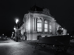 Petit Palais (JOLIVETV) Tags: windows winter paris france cold heritage museum night canon dark bench french lights construction december shadows angle wide romance structure tokina palais f28 petit patrimoine 2014 parisbynight 1017mm canon60d jolivetv