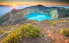 Awesome Kelimutu a truly beautiful place (Nathalie Stravers) Tags: lake flores sunrise indonesia landscape nikon crater ntt kelimutu nikond700 natstravers