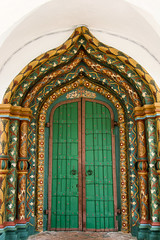 Entrance of the cathedral in Convent of Intercession, Suzdal, Russia (inchiki tour) Tags: door travel church architecture fairytale painting photo europe cathedral russia decoration entrance monastery orthodox  convent suzdal 2014 goldenring      pokrovsky         conventofintercession