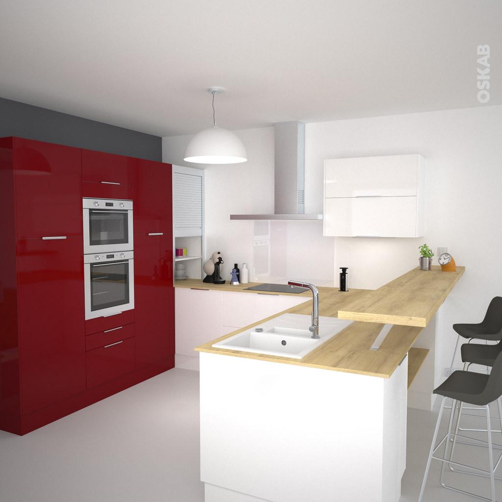 Cuisine Colorée Rouge Et Blanche Ultra Moderne   OSKAB (Oskab) Tags: Rouge  Cuisine