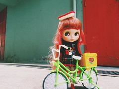 #Sunnyday ☀️☀️☀️ #love #blythe #doll #ブライス #ahcahcumzukin #red #vscocam #colors