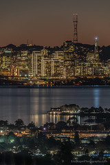 SF City Lights (Eric Dugan) Tags: sanfrancisco california berkeley twilight twinpeaks bankofamerica newyearseve sfbayarea holidaylights sutrotower portofsanfrancisco indianrock berkeleymarina trasamerica sanfrancisobay