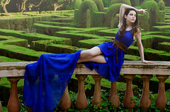 Marta Labyrinth Mystery Man Photography (2) (MysteryManPhotography) Tags: barcelona blue green girl beautiful beauty fashion spain europe pretty fantasy ethereal maze marta dslr labyrinth photoshoots whimsical prettydress bluedress d5100 euroshoots