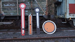 Signaux mcaniques allemands (simondechamps) Tags: gare db signalisation renovation bahn preservation deutsche hombourg montzen cf3f