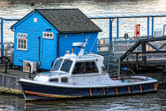 Thames boat and shed (Martin Carey) Tags: uk england london window water thames canon boat jetty greenwich shed rope hut gb drainpipe riverthames railings rigging guttering gbr canonphotography canoneos60d december282014